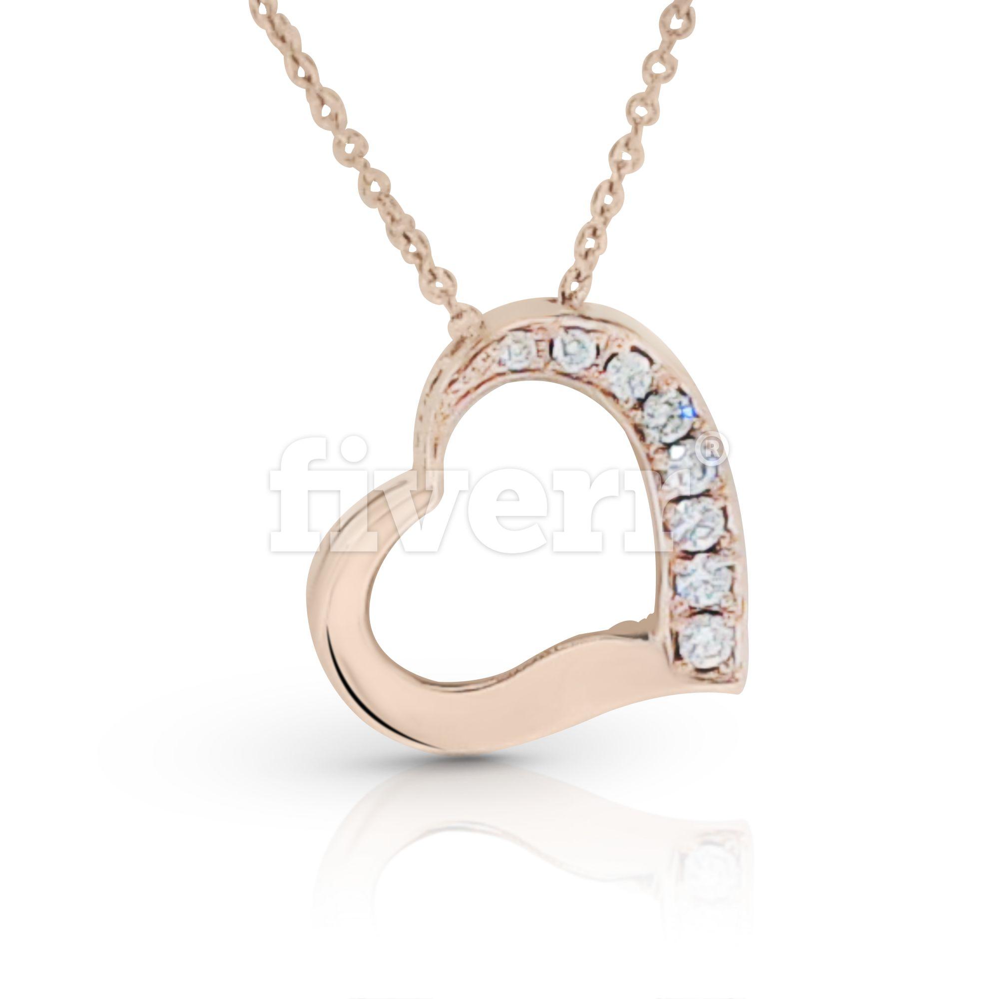 Diamond heart necklace matthews jewelers diamond heart necklace aloadofball Image collections