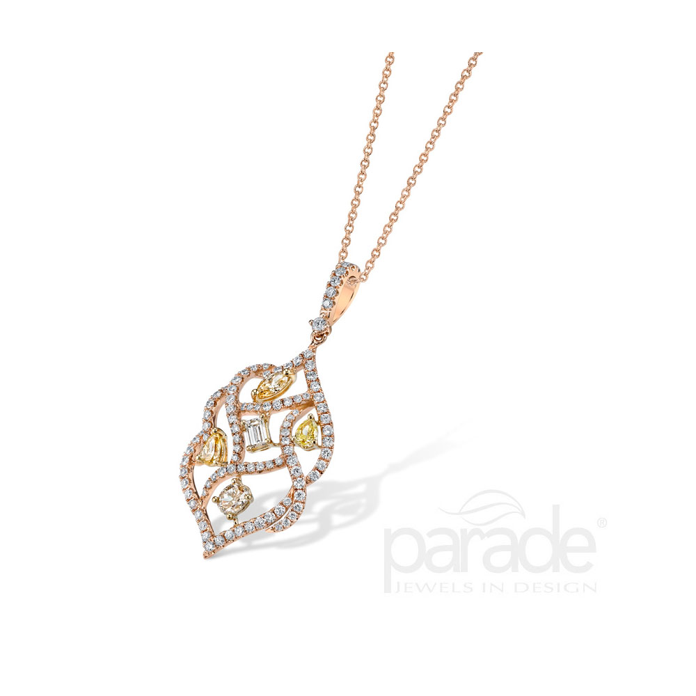 18kt rose gold fancy diamond pendant matthews jewelers 18kt rose gold fancy diamond pendant mozeypictures Image collections